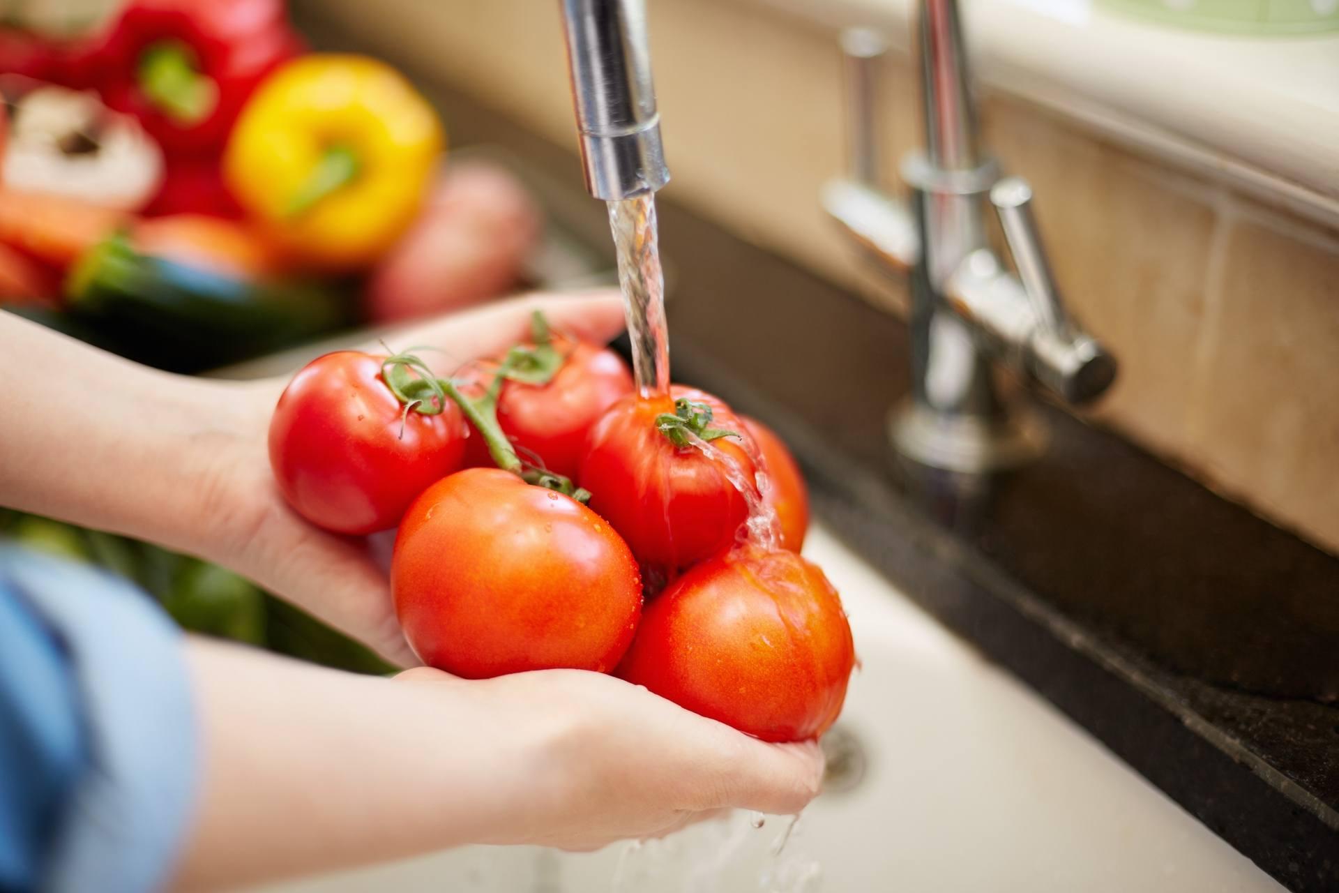 Lavado de alimentos con agua hidrogenada